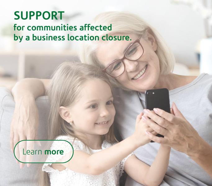 Support program for communities