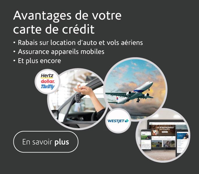 Avantages carte de crédit