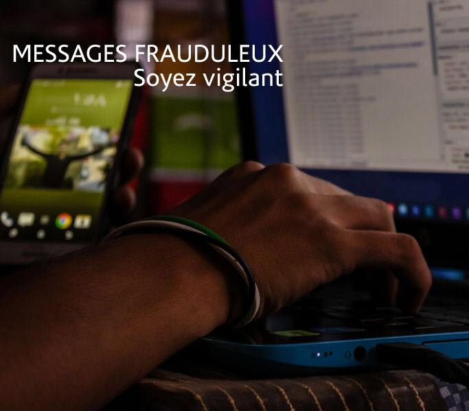 Message frauduleux