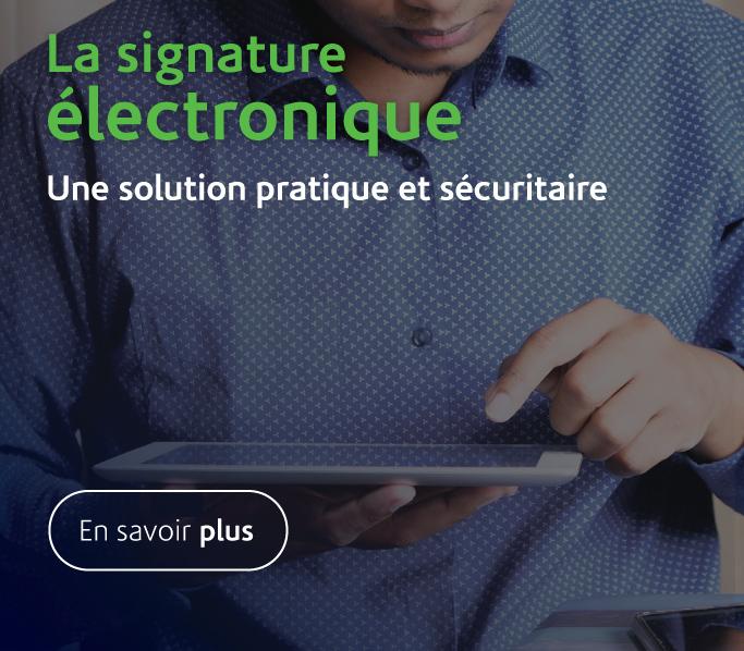 Signature électonique